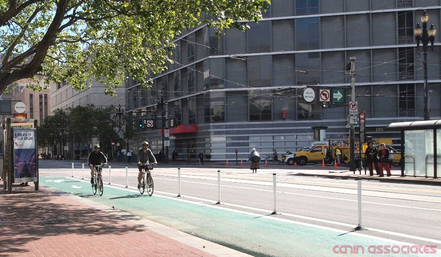 Bike Lane (Protected) in San Francisco