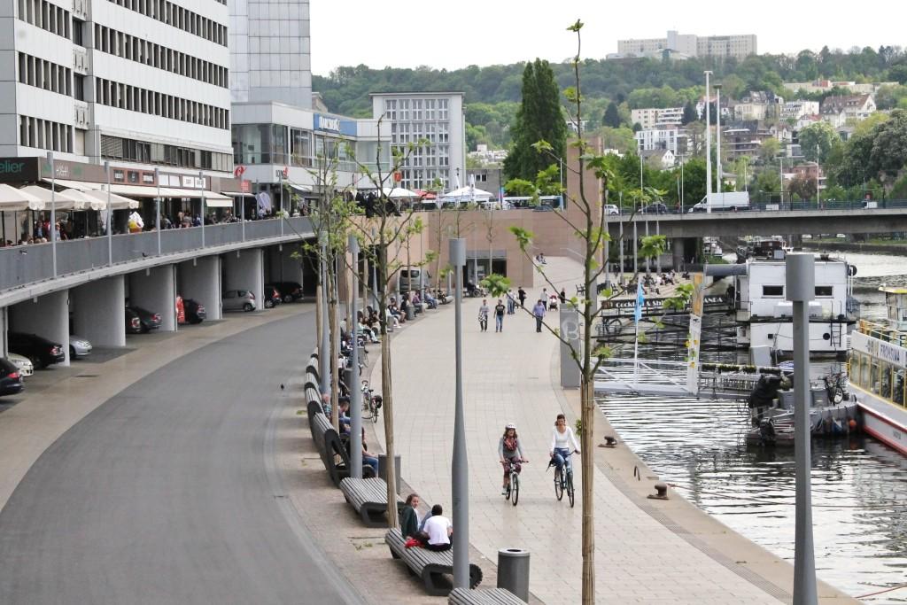 Stadtmitte am Fluss Trail, Saarbrücken, Germany