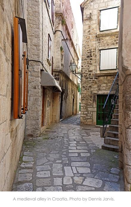 Alley in Croatia by Dennis Jarvis