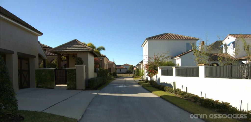 Alley-loaded homes in Baldwin Park, FL.